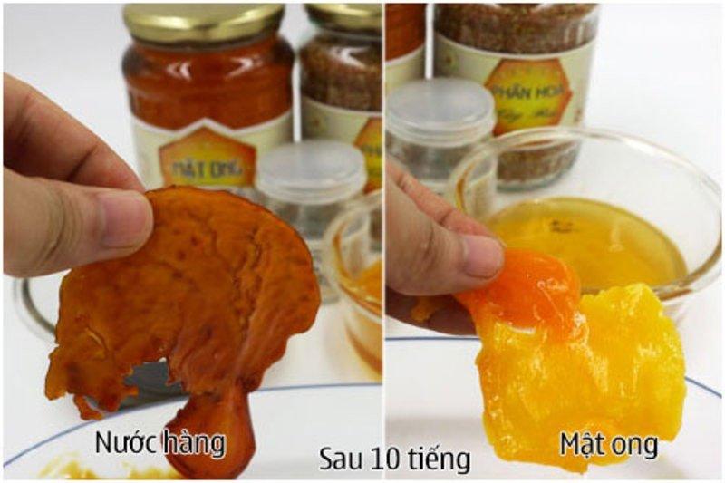 cách thử mật ong thật bằng trứng gà