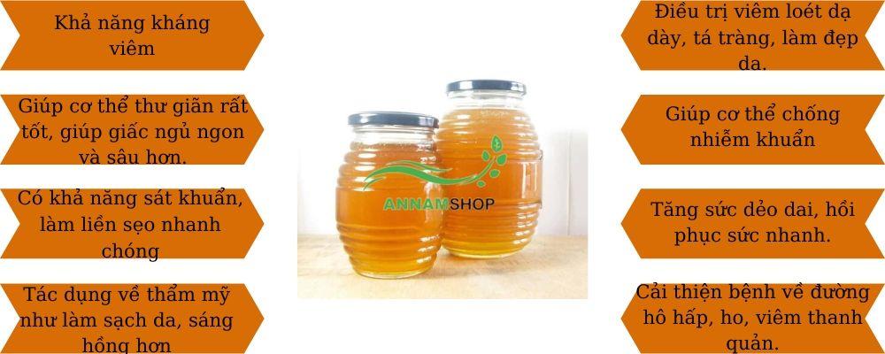 Tác dụng, công dụng của mật ong