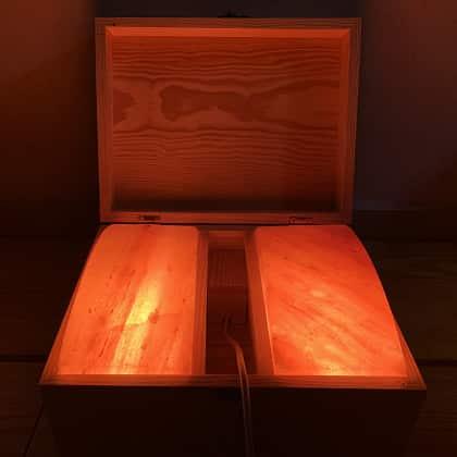 Hộp đá muối massage chân